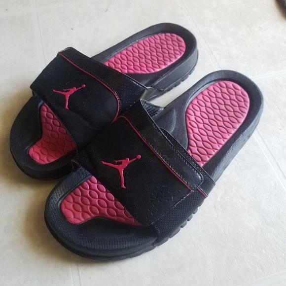 101bb9e5aae8 Jordan Other - Black and pink Jordan sandals